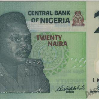 Нигерия 20 найра 2008 г. в UNC