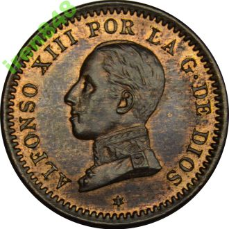 Іспанія 2 centimos 1911 AU-UNC