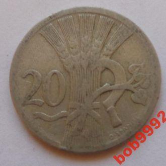 20 геллеров 1927 г  Чехословакия