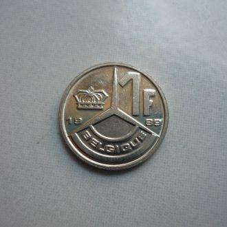 Бельгия 1 франк 1989 франц. яз.