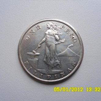 Филиппины 1 песо 1908 г