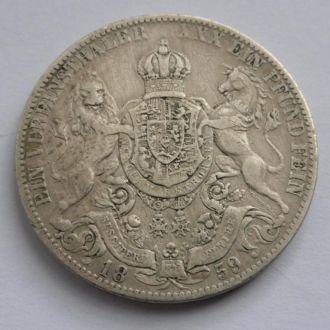 Германия Ганновер 1 талер 1859 г