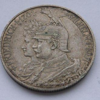 Германия Пруссия 2 марки 1901 г №1