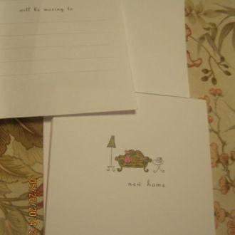 из БРИТАНИИ конверты и открытки с новосельем новые