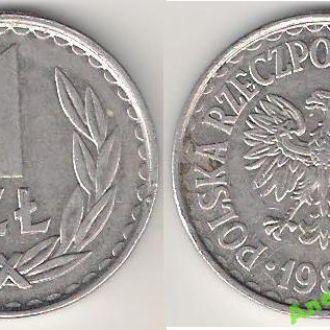 Польша 1 злотый 1985 г.