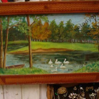 Картина Лебеді