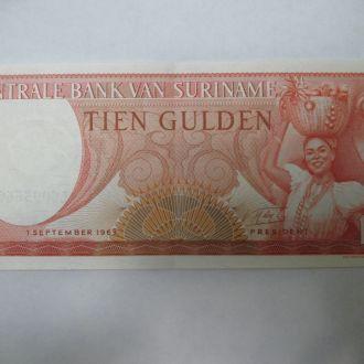 Суринам 10 гульденов 1963год