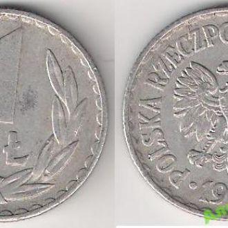 Польша 1 злотый 1975 г.