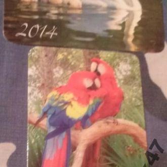 Календарики Фауна Птицы Пернатые