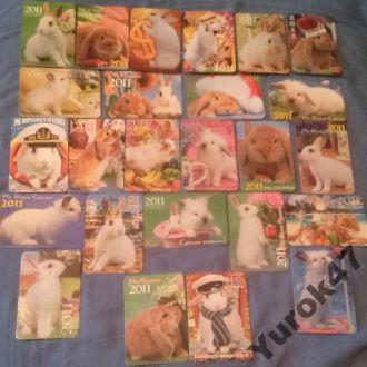 Календарики Фауна Домашние животные Зайцы-Кролики