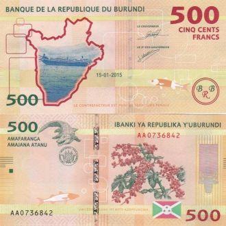 Burundi Бурунди - 500 Francs 2015 UNC JavirNV