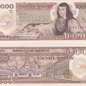 Mexico Мексика 1000 Pesos 1985 YA aUNC UNC Javir