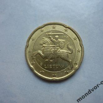 Литва 20 евроцентов 2015