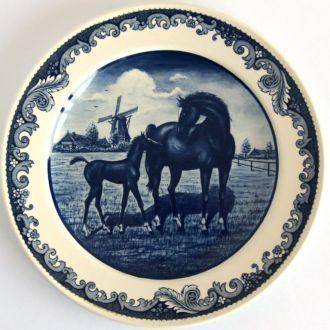 Тарелка панно Пастораль Делфт Delft Holland