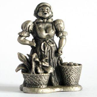 Статуэтка Продавец овощей, олово, GF, Germany
