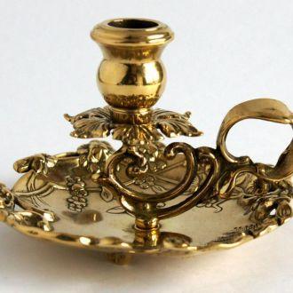 Латунный подсвечник ночник в стиле рококо Italy