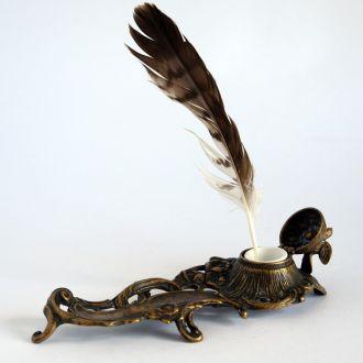 Настольный письменный прибор Uccello бронза Италия