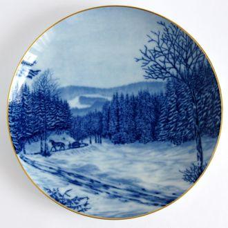 Тарелка панно Зимний лес Hutschenreuther Germany