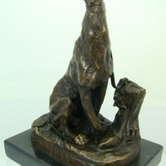 бронзовая статуэтка Скульптура Собака бронза
