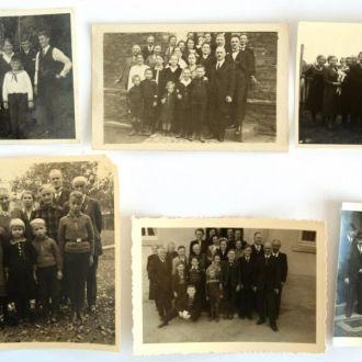 Старые групповые фото 6 шт, середина ХХ в Германия