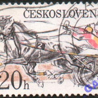 Чехословакия. 1978г из серии Скачки в Пардубице