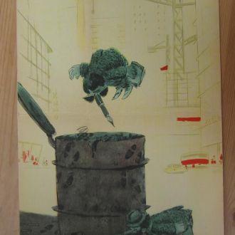 Плакат Боевой Карандаш Юмор Пропаганда 1963 52  33