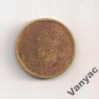 Британская Западня Африка 6 пенсов / Pence 1940