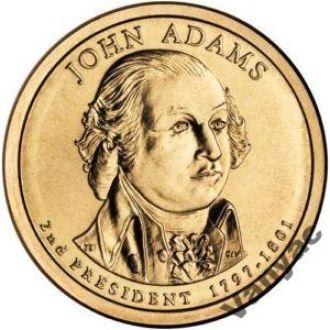1 Доллар Джон Адамс Adams США UNC 2007 P