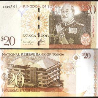 Tonga / Тонга - 20 Pa'anga 2009 (2014)  - UNC
