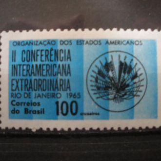 Бразилия.1965г. Конференция о создании США. Полная серия. МNН