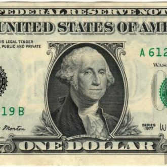 1 доллар США 1977 г. в UNC из пачки