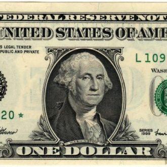 1 доллар США замещение* 1999 г. в UNC из пачки