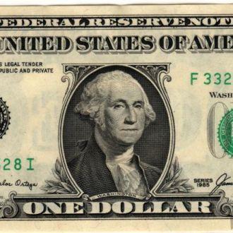 1 доллар США 1985 г. в UNC из пачки