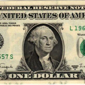 1 доллар США 1988A г. в UNC из пачки