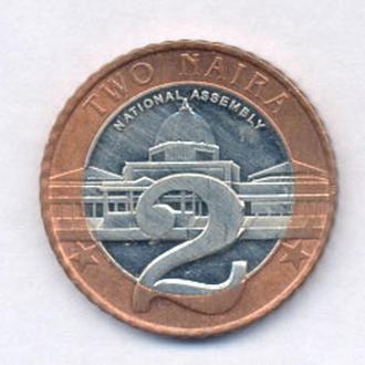 Монеты Африка Нигерия 2 найра 2006 г.