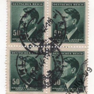 Рейх Богемия и Моравия Гитлер 65 A21 50(h) slate g