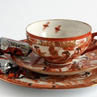 Чашка блюдце тарелка Гейша Птицы №3 литофания