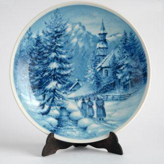 К Новому году Тарелка панно Winter inTirol Germany