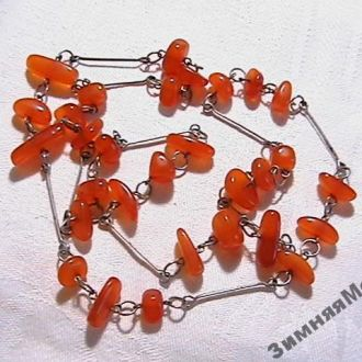 Винтажное ожерелье. Янтарь. Прибалтика времен СССР