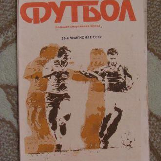 программа Спартак Москва - Днепр 1990