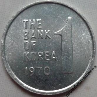 Корея 1 вона 1970 флора состояние