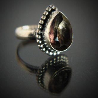 Серебряное кольцо с турмалином, 800 проба, Holland