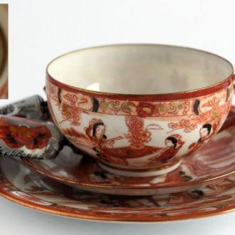 Чашка блюдце тарелка Три Гейши №2 фарфор литофания