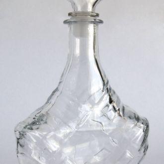 Бутылка бутыль графин с пробкой стекло 0,7 Литра