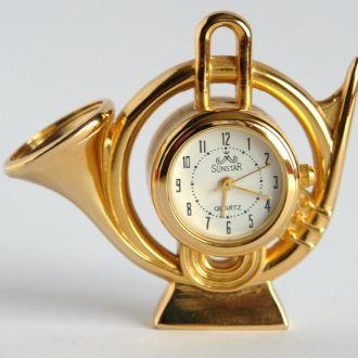 Часы коллекционные миниатюрные Горн SUNSTAR кварц