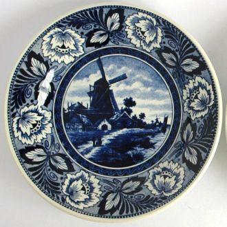 Декоративная тарелка панно, Делфт, Голландия