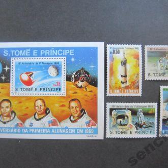 Сан-Томе и Принсипи 1980г.** космос