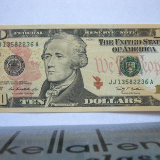 США_ 10 долларов 2009 года UNC