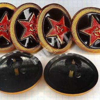 Кокарда ВМФ СССР. Морская пехота. Пластик.