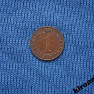 Германия 1 рейхспфенниг PFENNIG 1935 г E